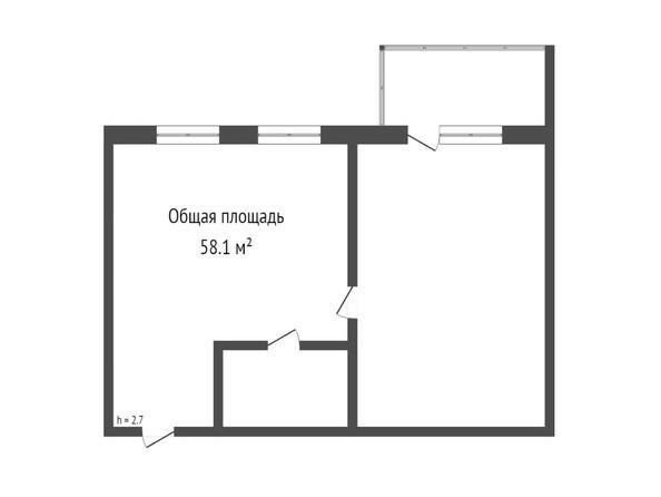 Планировка 2-комн 58,1 м²