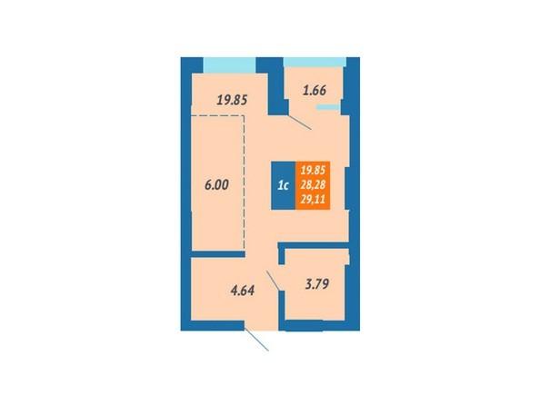 Планировка Студия 28,28 - 29,4 м²