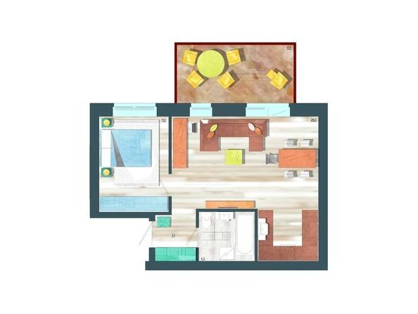 Планировки Жилой комплекс ЖИВЁМ эко-район, 10 квартал, дом 1 - Планировка двухкомнатной квартиры 50,1 кв.м