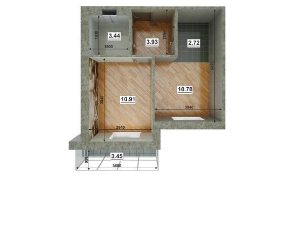 Планировки Жилой комплекс ЮГО-ЗАПАДНЫЙ, б/с 8-10 - Планировка двухкомнатной квартиры 62,64 кв.м
