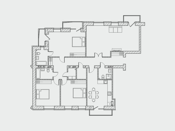 Планировки Жилой комплекс ПРЕОБРАЖЕНСКИЙ, дом 4 - Планировка четырехкомнатной квартиры 162 кв.м