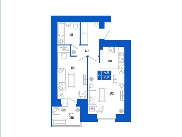 2-комнатная 48.64; 49.51 кв.м