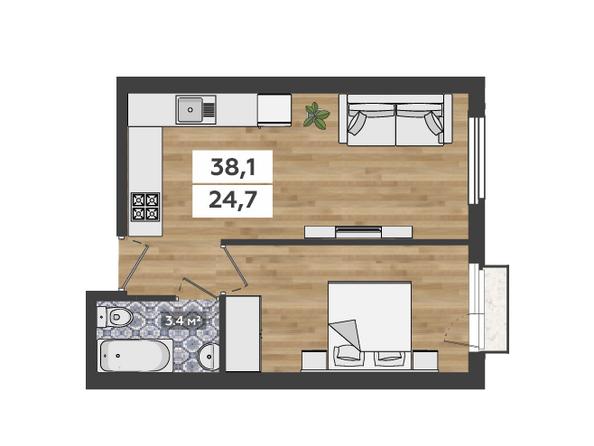 2-комнатная на 2-3 этажах