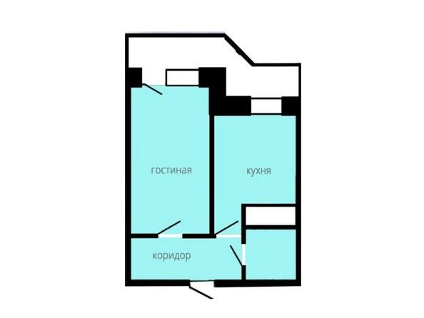 Планировка 1-комн 35,99 м²