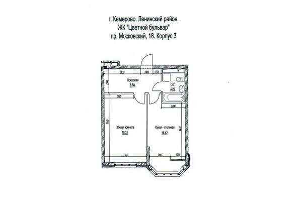 Планировка однокомнатной квартиры 49 кв.м