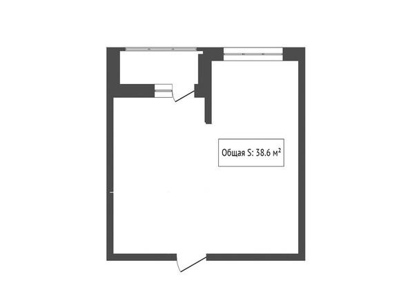 1-комнатная 38.6 кв.м