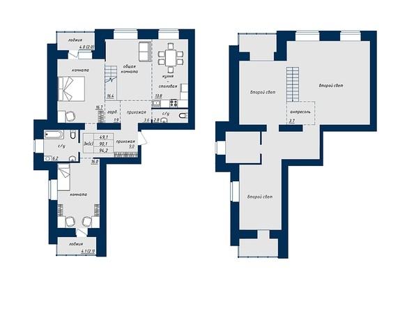 3-комнатная 94.2 кв.м