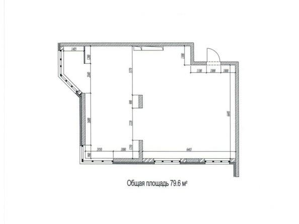 Планировки Жилой комплекс ЦВЕТНОЙ БУЛЬВАР, дом 18, корпус 7 - Планировка трёхкомнатной квартиры 79,6 кв.м