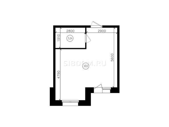 Планировки Жилой комплекс ПЕРСПЕКТИВА - 1-комнатная 36,44 кв.м