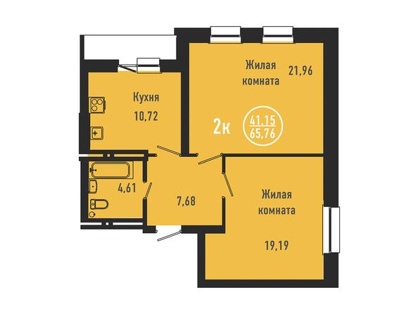 2-комнатная 65,43 кв.м