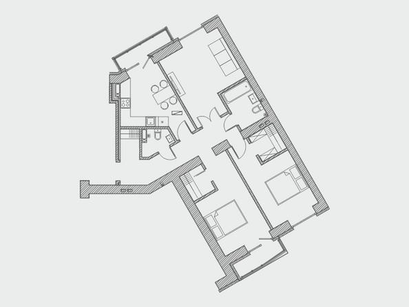 Планировки Жилой комплекс ПРЕОБРАЖЕНСКИЙ, дом 4 - Планировка четырехкомнатной квартиры 95,5 кв.м