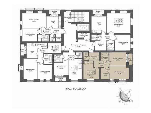Планировки Жилой комплекс ОНЕГА, дом 4 - 2-комнатная 53,7 кв.м