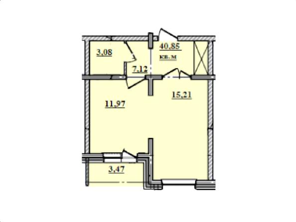 2-комнатная 40,85 кв.м