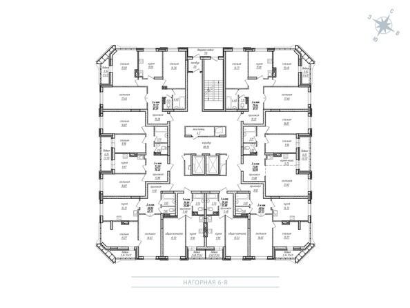 Планировки Жилой комплекс МОХОВАЯ ПОЛЯНА, дом 7