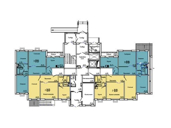 Планировки Иннокентьевский, 3 мкр, дом 6 - Подъезд 1. Планировка 1 этажа