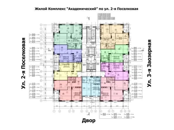 Планировки Жилой комплекс ЛОМОНОСОВ - планировка типового этажа