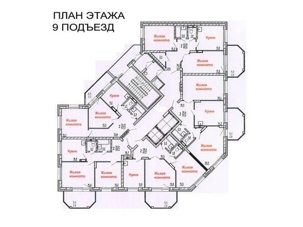 Подъезды 9. Планировка типового этажа