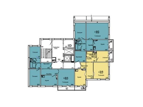 Планировки Иннокентьевский, 3 мкр, дом 6 - Подъезд 2. Планировка 15-17 этажей