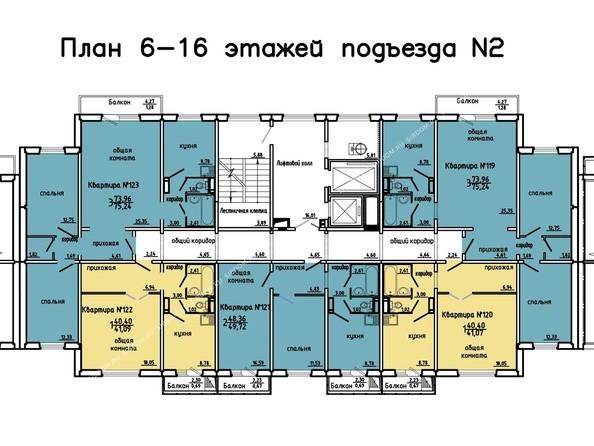 Планировки Жилой комплекс Иннокентьевский, 3 мкр, дом 3 - 2 подъезд, 6-16 этажи
