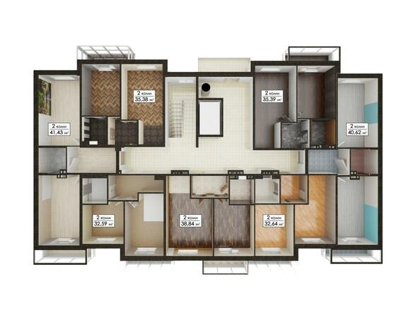 Блок-секция 9. Планировка типового этажа