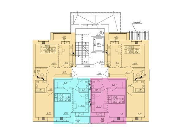 1 подъезд, типовой этаж