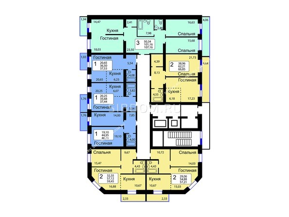 10-16 этажи 12 б/с