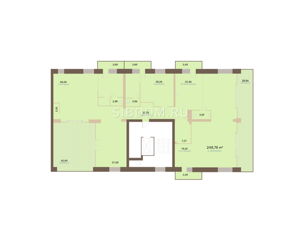 Планировки Жилой комплекс Академгородок, дом 1, корп 3 - Корпус 3. Подъезд 15. Планировка 8 этажа