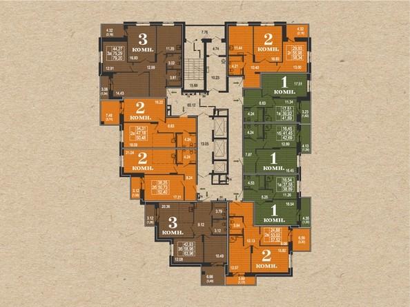 Планировки Abrikos (Абрикос) - Планировка типового этажа