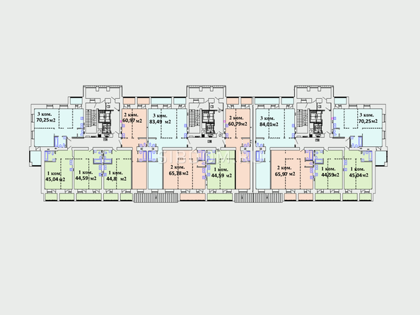 Планировки Жилой комплекс Комарова-13 - Планировка 2 этажа
