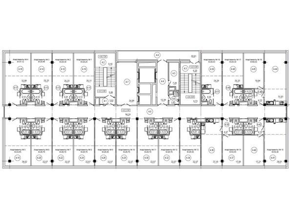 Планировки Бизнес-центр WTC ЦЕНТР МЕЖДУНАРОДНОЙ ТОРГОВЛИ - Планировка 4-8 этажей