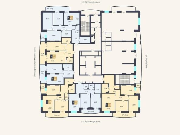 Планировки Жилой комплекс КАЛИНИНСКИЙ-2 - Планировка 2 этажа