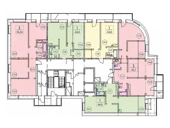 Планировка 2-16 этажей