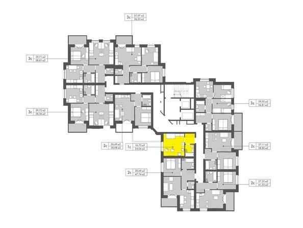 Планировки Жилой комплекс ГРИБОЕДОВ - Планировка 2-5 этажей