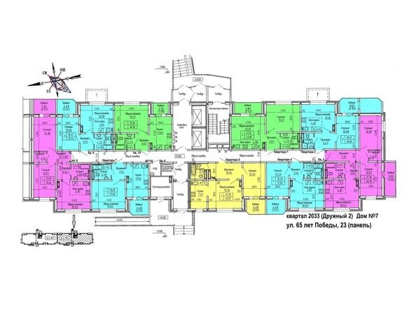 Планировка 1 этажа, 2 б/с