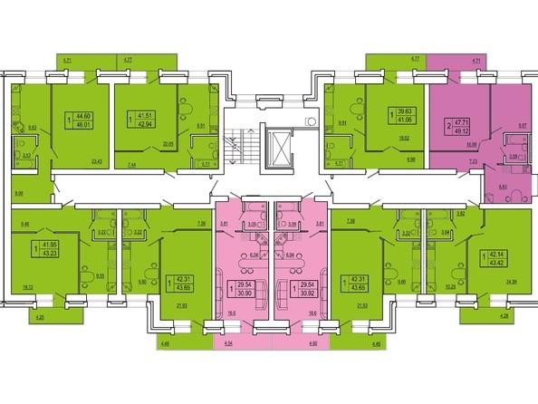 Планировки Жилой комплекс СНЕГИРИ, дом 2 - 3 секция 2-8 этаж