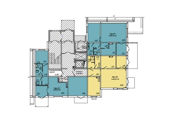 Планировки Иннокентьевский, 3 мкр, дом 6 - Подъезд 2. Планировка 1 этажа
