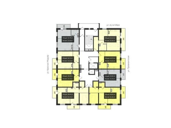 Планировки Жилой комплекс КВАРТАЛ, 2 оч, б/с 3 - Планировка 7-8 этажей