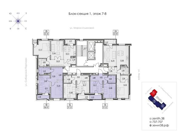 Планировка 7,8 этажа