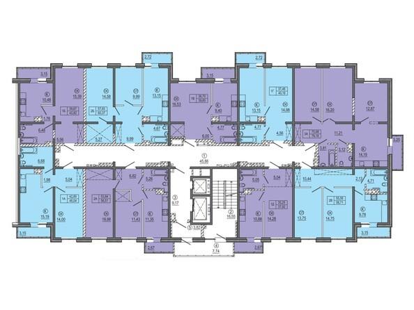 МКД 3. Планировка типового этажа.