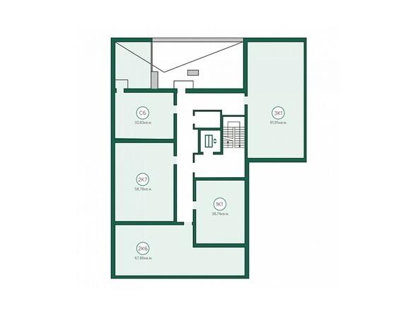 Блок-секция 3. Планировка 5 этажа