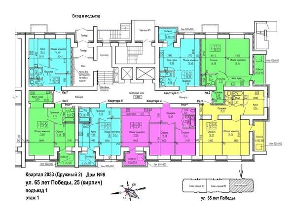 Планировка 1 этажа, 1 б/с