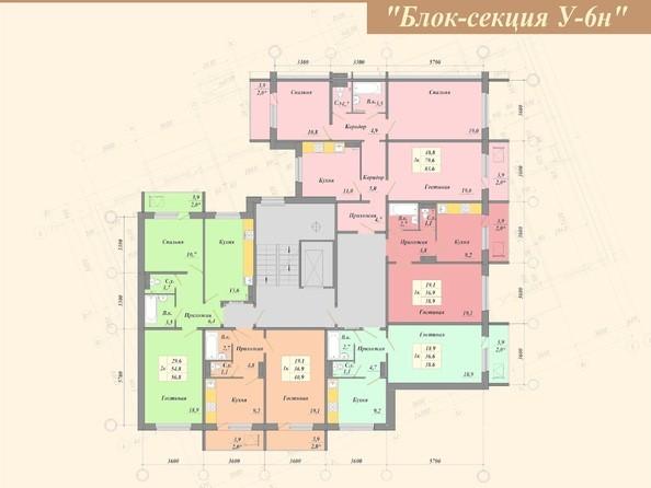 6 б/с. Планировка типового этажа