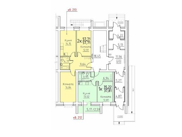 Подъезд 10. Планировка 1 этажа
