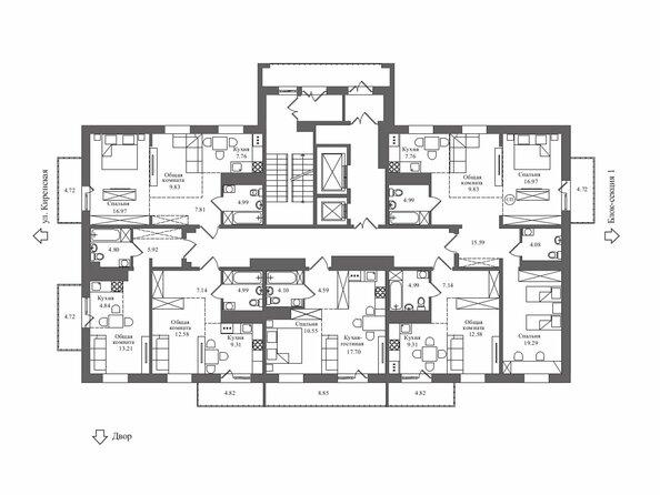 Планировка 10-18 этажей