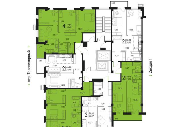 Секция 2, этаж 4-13