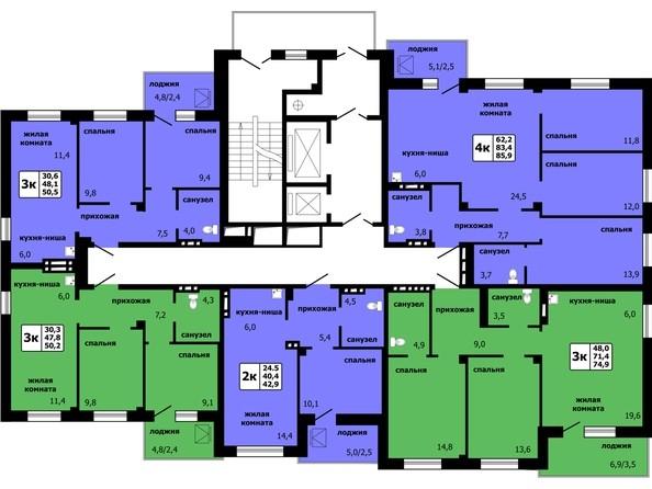 Типовая планировка этажа