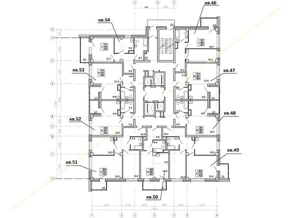 Планировки Жилой комплекс АКВАРЕЛЬ - Планировка 9 этажа