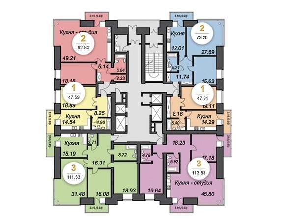 План 19-23 этажей