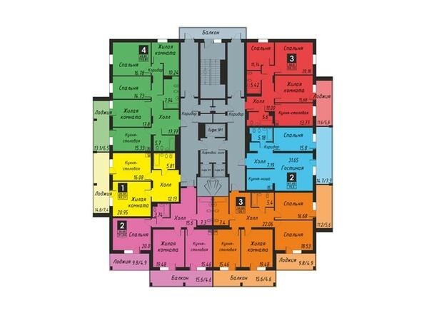 Планировка 4-20 этажей