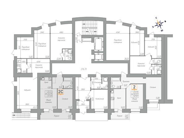Планировки Жилой комплекс ОГНИ - Планировка 1 этажа, 1 б/с
